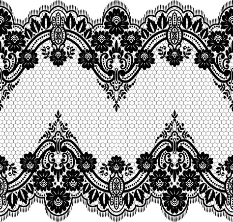 lace seamless borders vectors set 06 vector floral