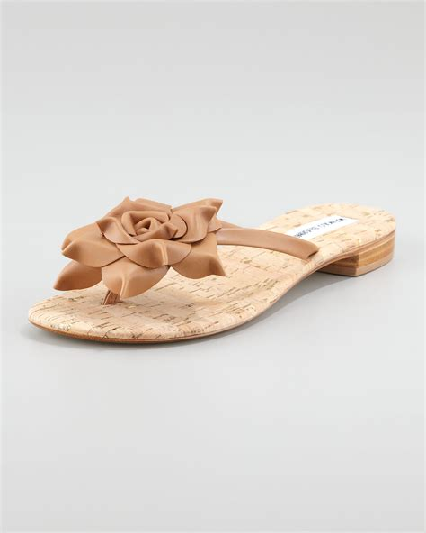 pink flat sandals wedding manolo blahnik flower flat sandal manolo