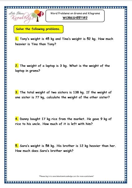 grade 3 maths worksheets 12 7 word problems on grams and