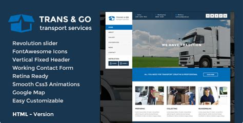 28 Best Transportation Html Templates 2016 Logistics Website Template