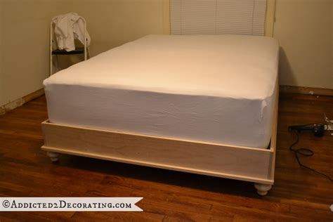 Diy Platform Bed Frame Diy Stained Wood Raised Platform Bed Frame Part 2