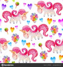Wall Stickers Hearts patr 243 n sin fisuras con unicornios chupetes flores