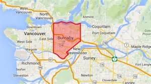 burnaby canada map burnaby civic election candidates columbia cbc