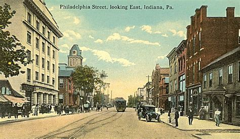 Iup Post Office by Philadelphia Looking East Indiana Pa 1934