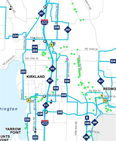 seattle eastside map a closer look at metro s cuts eastside