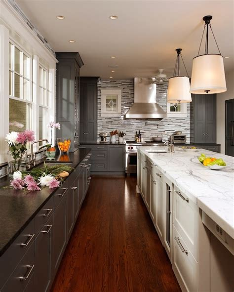 kitchen renovations using gray and white labrador antique granite transitional kitchen studio swan