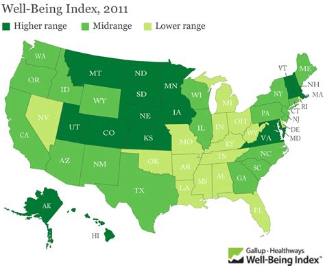 happiest state in the us new map highlights the happiest states feelgood style