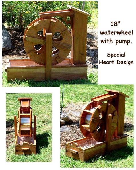 water wheel pattern woodworking plans self contained water wheel fountains by bob s bridges