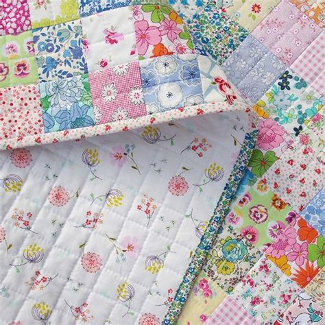 Binding Patchwork Quilt - pepper quilts scrappy liberty patchwork quilt