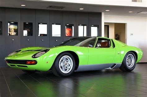 Lamborghini Miura For Sale by For Sale 1969 Minty Green Lamborghini Miura Sv