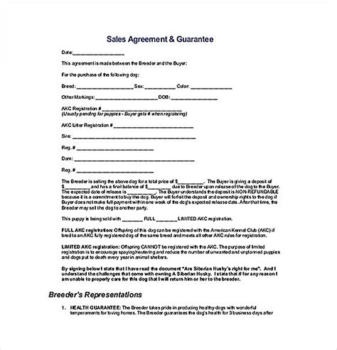 guarantee agreement template reliable sales agreement template for free to copy