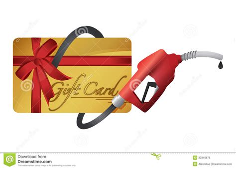 Gas Card Gift Card For Gas Only - gift card with a gas pump nozzle stock illustration image 30346876