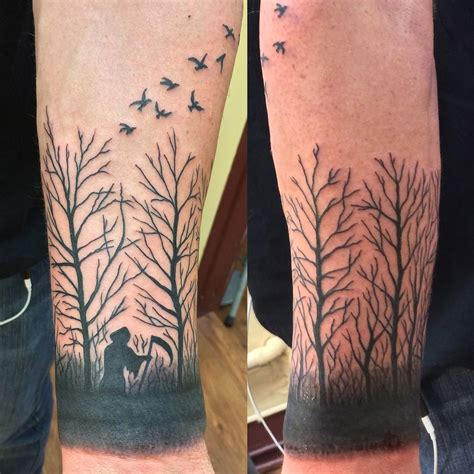 tattoo austin dead trees birds by jon reed all saints