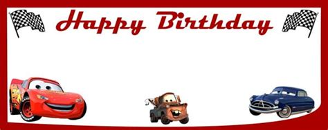 cars birthday banner template ready to race cars birthday design personalised banner partyrama co uk