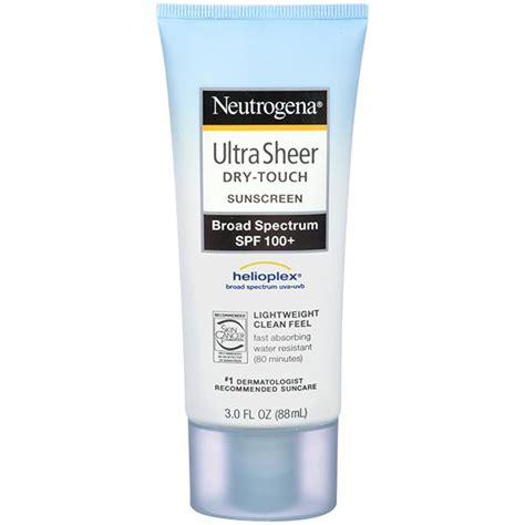 noblesse sun block 100 neutrogena ultra sheer touch sunscreen