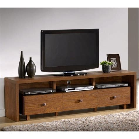 Tv Stand With Drawers by Techni Mobili W 3 Drawers Walnut Finish Tv Stand Ebay