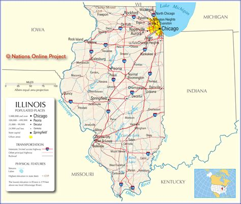 map of illinois map of illinois map pictures