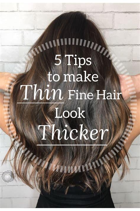 do short haircuts help hair look thicker 5 tips to make thin fine hair look thicker