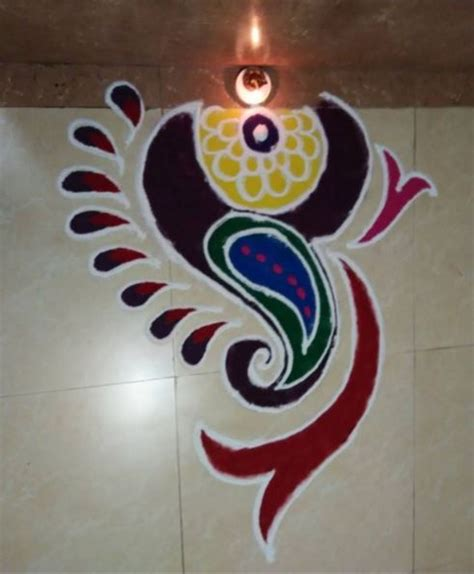 17 best ideas about simple rangoli on