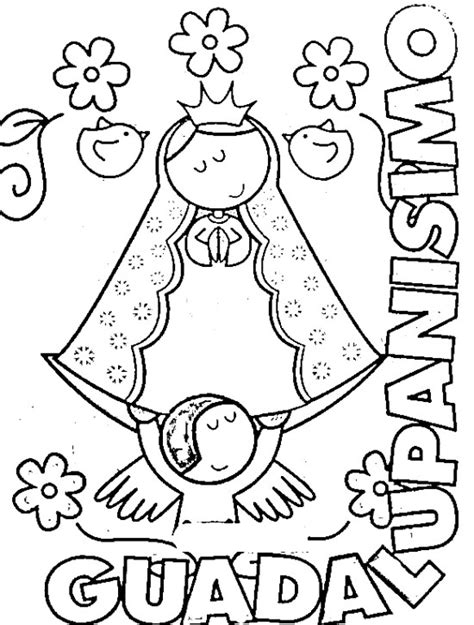 imagen virgen de guadalupe para iluminar dibujos infantiles de la v 237 rgen de guadalupe para colorear