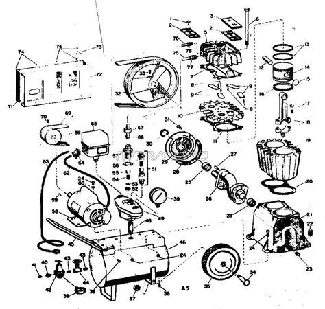 sears craftsman air compressor parts 106 153680
