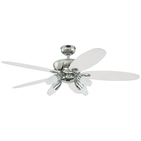 chrome ceiling fan with light westinghouse panorama 52 in chrome ceiling fan 7255900