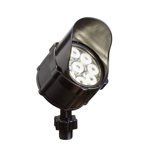 kichler led accent light kichler 15753bkt landscape led 9 bulb low voltage accent light