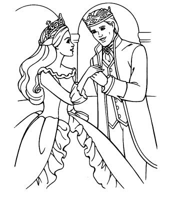 disney coloring pages ken and barbie wedding