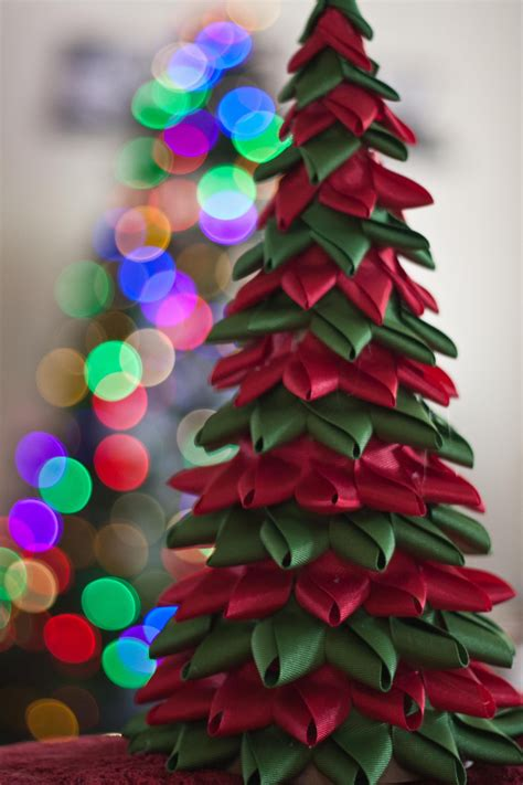 ribbon tree christmas craft pinterest