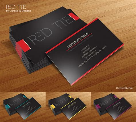 business card templates designs free business card template tie by cursiveq designs