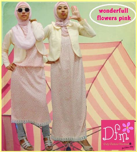 Dress Pink Mix Salam daily fashion muslimah must pink collection last year