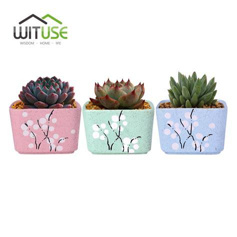 modern decoration ceramic indoor plant pot flower pot home wituse 3pcs set flower pot ceramic square small indoor