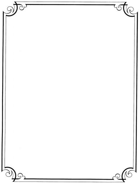Simple Paper Border Design Signage Pinterest Border Design Cgc Border Design Border Paper Template 2