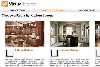 home depot virtual design interactive kitchen design