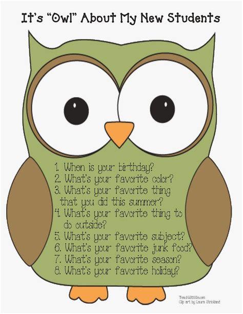 crucial week owl   freebie  classroom freebies