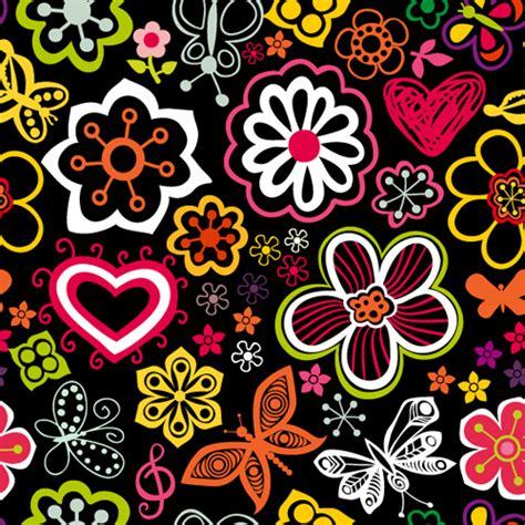 floral pattern vector illustrator set of flower pattern vector art free vector in