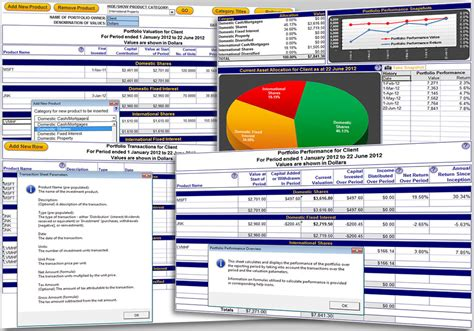 commercial model portfolio exle excel portfolio performance tracking template