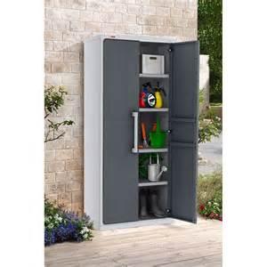 armoire de jardin r 233 sine keter optima l80 5 h177 8 cm gris