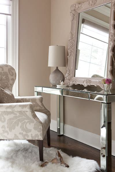 mirrored bedroom vanity mirrored vanity transitional bedroom the elegant abode