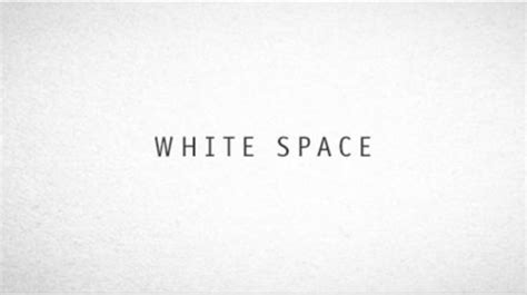 design elements white space white space a perfect option for improving usability in