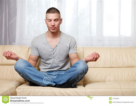 yoga couch more similar stock images of man is making yoga male