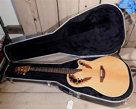 ovation elite 1768 acoustic electric guitar 1990 ovation elite model 1768 usa acoustic electric reverb
