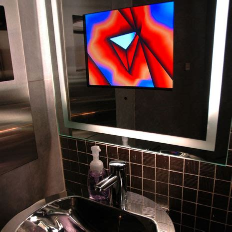 bathroom mirror with built in tv bathroom tv archives digsdigs