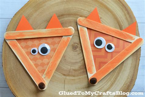 craft for popsicle stick fox kid craft