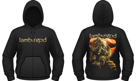 anime zip lamb of god anime zip up hoodie hoodies clothing