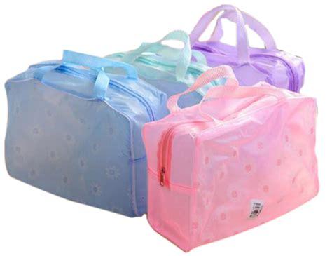 Wa2917w Sabut Sikat Dengan Pegangan Serbaguna tas perlengkapan mandi dan kosmetik transparant motif