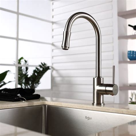 kraus kpf1622ksd30sn single lever pull out kitchen faucet kraus kpf1622ksd30sn single lever pull out kitchen faucet