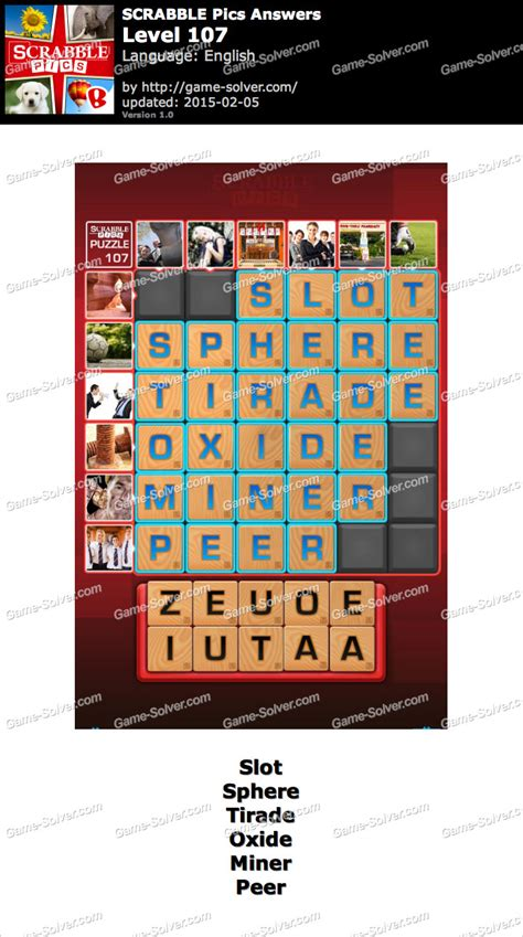 scrabble answer generator scrabble pics level 107 solver