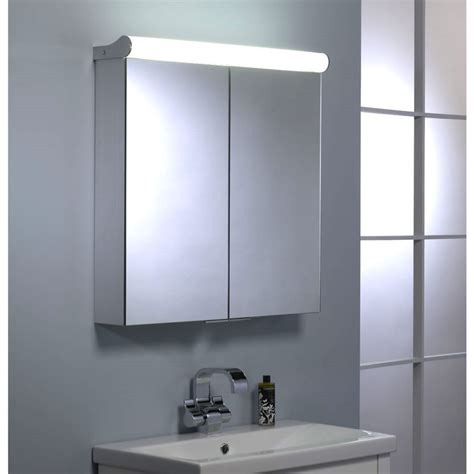 illuminated bathroom mirror cabinets uk roper rhodes ascension latitude double door illuminated