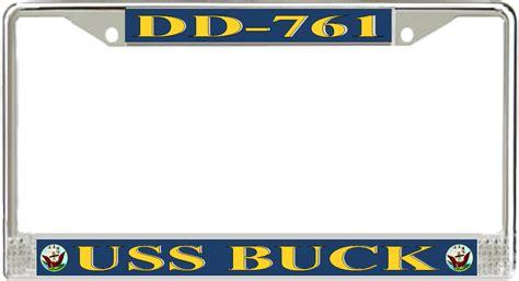 uss buck uss buck dd 761 license plate frame allen m sumner